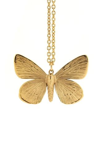 Silver Little Butterfly Necklace
